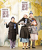 Mr Stink <br /> by David Walliams<br /> live on stage<br /> World Premier<br /> illustrated by Quentin Blake<br /> adapted &amp; directed by Matthew White<br /> press photocall<br /> at the Hackney Empire, London, Great Britain <br /> 21st June 2011<br /> <br /> Lotte Gilmore (as Chloe)<br /> Julia Nagle (as Mrs Crumb)<br /> Mark Peachey (as Mr Crumb)<br /> <br /> Photograph by Elliott Franks