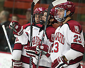 Alexander Kerfoot (Harvard - 14), David Valek (Harvard - 23) - The Harvard University Crimson defeated the Princeton University Tigers 3-2 on Friday, January 31, 2014, at the Bright-Landry Hockey Center in Cambridge, Massachusetts.