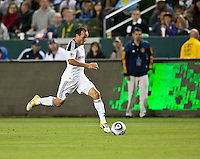 CARSON, CA – April 2, 2011: LA Galaxy midfielder Landon Donovan (10) moves the ball up the field during the match between LA Galaxy and Philadelphia Union at the Home Depot Center, March 26, 2011 in Carson, California. Final score LA Galaxy 1, Philadelphia Union 0.
