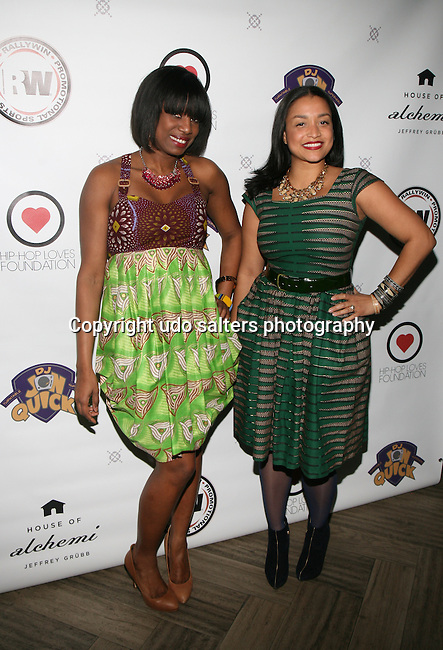 DJ Nadia Vidal Wearing Royal Jelly Harlem Designs and Royal Jelly Harlem Designer Maya Gorgoni at DJ Jon Quick's 5th Annual Beauty and the Beat: Heroines of Excellence Awards Honoring AMBRE ANDERSON, DR. MEENA SINGH,<br /> JESENIA COLLAZO, SHANELLE GABRIEL, <br /> KRYSTAL GARNER, RICHELLE CAREY,<br /> DANA WHITFIELD, SHAWN OUTLER,<br /> TAMEKIA FLOWERS Held at Suite 36, NY
