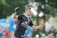 KAATSEN: BOLSWARD: 13-07-2014, Winnaars Jan Dirk de Groot, Dylan Drent en Hans Wassenaar, ©foto Martin de Jong