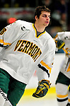 12 December 2009: University of Vermont Catamount defenseman Dan Lawson, a Junior from Oak Forest, IL, skates around his end prior to a game against the St. Lawrence University Saints at Gutterson Fieldhouse in Burlington, Vermont. The Catamounts shut out their former ECAC rival Saints 3-0. Mandatory Credit: Ed Wolfstein Photo
