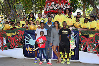 Dwyane Wade and Gabrielle Union at Santa's Enchanted Forest FL
