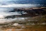 Africa, Namibia, Skeleton Coast. Aerial of the clouds over the Skeleton Coast.
