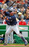 13 April 2008: Atlanta Braves' infielder Yunel Escobar at bat against the Washington Nationals at Nationals Park, in Washington, DC. The Nationals ended their 9-game losing streak by defeating the Braves 5-4 in the last game of their 3-game series...Mandatory Photo Credit: Ed Wolfstein Photo