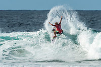 Snapper Rocks, Coolangatta Queensland Australia (Monday, March 14 2016):  John John Florence (HAW) - Round Two of the first WCT event of the year, the Quiksilver Pro Gold Coast, was completed this morning followed by Round Three and two heats of Round Four.  The upsets continued with the Tour Rookies taking out out a good proportion of the heats with Stu Kennedy(AUS) again showing great form by defeating Gabriel Medina (BRA). The event was put on hold for over 2 hours while organisers waited for the tide to drop. The surf was in the 4'-5' range most of the day.Photo: joliphotos.com