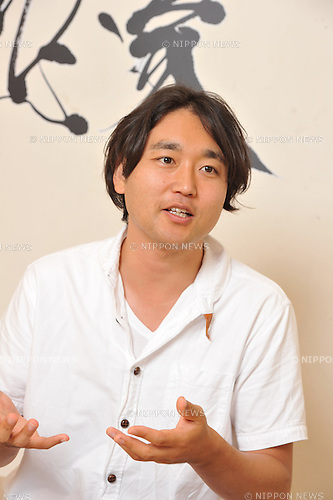 Kanji Artist Souun Takeda during a interview session in Japan. 22 July, 2015. (Photo by Tsutomu Yamada/AFLO)