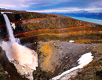 Hengifoss Waterfall Lagarfljot Lake, Iceland Hengifoss Nature Preserve May Four hundred foot falls 45 H IC2