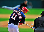 8 March 2010: Washington Nationals' third baseman Ryan Zimmerman connects during a Spring Training game against the Florida Marlins at Space Coast Stadium in Viera, Florida. The Marlins defeated the Nationals 12-2 in Grapefruit League action. Mandatory Credit: Ed Wolfstein Photo