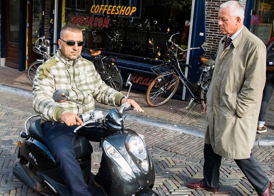 Nederland, Utrecht, 10 okt 2014<br /> Mensen op straat. <br /> Foto: (c) Michiel Wijnbergh
