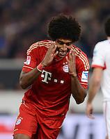 FUSSBALL   1. BUNDESLIGA  SAISON 2012/2013   19. Spieltag   VfB Stuttgart  - FC Bayern Muenchen      27.01.2013 Dante (FC Bayern Muenchen) emotional