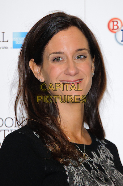 Allison Abbate.'Frankenweenie' photocall ahead of the 56th BFI London Film Festival Opening Gala, Corinthia Hotel, London, England..10th October 2012.headshot portrait black print grey gray .CAP/CJ.©Chris Joseph/Capital Pictures.