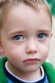 Little boy looking sad. MR