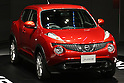 June 9, 2010 - Yokohama, Japan - The new compact crossover 'Juke' is on display at the company's headquarters in Yokohama, on June 9, 2010. Nissan said it is aiming to sell 1,300 units per month with starting price of 1.69 million yen (18,500 dollars). 'Juke', which combines features of a sports car and sport utility vehicle, will also be sold in Europe and the U.S. this autumn.