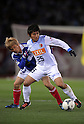 Yuzo Kobayashi (F Marinos), Yasushi Endo (Antlers), MARCH 31, 2012 - Football / Soccer : 2012 J.LEAGUE Division 1 between Yokohama F Marinos 0-0 Kashima Antlers at NISSAN Stadium, Kanagawa, Japan. This game was celebrated as a 20th Anniversary Match involving two of the original teams that featured when the J.League launched. Traditionally one of the favourites, Kashima have not scored yet in their first 4 games of the season. (Photo by Atsushi Tomura /AFLO SPORT) [1035]