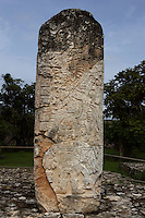 Stelae, South Plaza, Ek Balam (?Black Jaguar? in Maya), flourished during the Late Classic period between 700 and 1200 AD, Yucatan, Mexico. Picture by Manuel Cohen