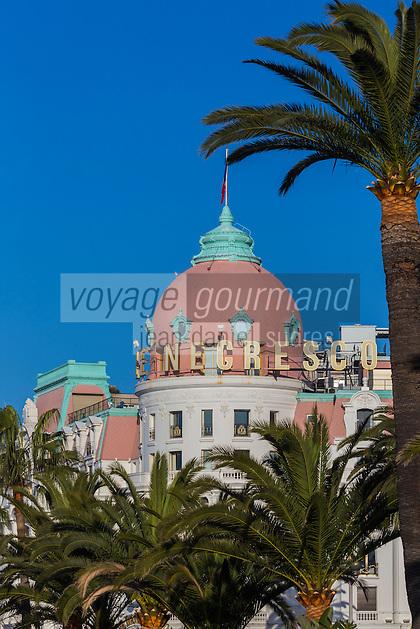 Europe/France/Provence-Alpes-Côte d'Azur/Alpes-Maritimes/Nice/ Promenade des Anglais, Hôtel Négresco   //   Europe, France, Provence-Alpes-Côte d'Azur, Alpes-Maritimes, Nice:  Hotel Negresco,  Promenade des Anglais