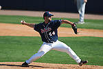 Ole Miss' Jake Morgan (44) pitches at Oxford-University Stadium in Oxford, Miss. on Sunday, March 20, 2011.