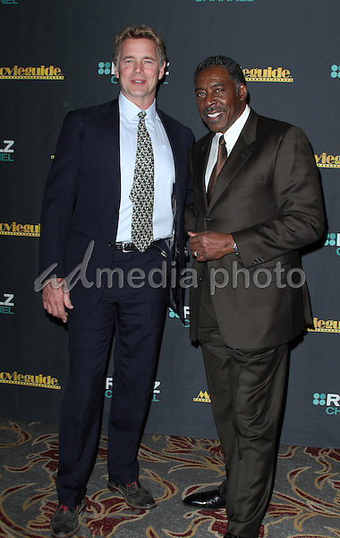05 February 2016 - Los Angeles, California - John Schneider and Ernie Hudson. 24th Annual MovieGuide Awards 2016 - Press Room held at the Universal Hilton Hotel. Photo Credit: AdMedia