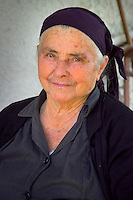 Kalambaka, Kastraki, Meteora, Greece, June 2006. A elderly woman in Kastraki. The sleepy village of Kastraki is a good base to discover Meteora. The Monastaries of Meteora can be found high on the steepest rocks, Photo by Frits Meyst/Adventure4ever.com