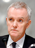 Washington, D.C. - March 23, 2006 -- The National Commission on Terrorist Attacks Upon the United States (also known as the 9-11 Commission) member Bob Kerrey listens to Secretary Rumsfeld's testimony before the commission in Washington, D.C. on March 23, 2004.<br /> Credit: Ron Sachs / CNP<br /> [RESTRICTION: No New York Metro or other Newspapers within a 75 mile radius of New York City]