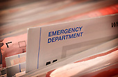 Emergency Department medical records. Royalty Free