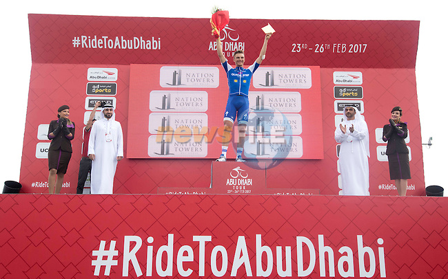 Marcel Kittel (GER) Quick-Step Floors wins Stage 2 the Nation Towers Stage of the 2017 Abu Dhabi Tour, running 153km around the city of Abu Dhabi, Abu Dhabi. 24th February 2017.<br />