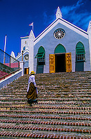 Bermuda, Woman, Church, people, Costume, St. Peter's Church, St. George, Travel, Analog
