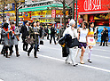 "January 23, 2011, Tokyo, Japan - Cosplayers, shoppers and tourists flood the 570-meter stretch of Akihabarafs main street as reopened ""Pedestrian Paradise"" reopens in Tokyofs electronics district on Sunday, January 23, 2011. A record crowd of about 100,000 shoppers and tourists returned to Akihabara as the pedestrian-only shopping zone reopened for the first time in two years and seven months after the 2008 stabbing rampage that left seven dead and 10 others injured. (Photo by AFLO) [3620] -mis-"