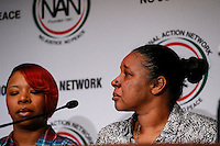 "Esaw Snipes (R), the wife of Eric Garner, and Lesley McSpadden, the mother of Michael Brown takes part in the ""Impact of Police Brutality"" panel during the 2015 National Action Network Convention in New York City. 04.08.2015. Kena Betancur/VIEWpress."