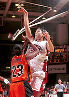 STANFORD, CA - JANUARY 13: Lindsey Yamasaki of the Stanford Cardinal during Stanford's 78-58 win over the Oregon State Beavers on January 13, 2000 at Maples Pavilion in Stanford, California.