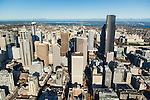 Aerial photo of Seattle skyline
