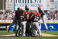 7 March 2009: The Netherlands celebrate their 3-2 win against The Dominican Republic during the 2009 World Baseball Classic Pool D match at Hiram Bithorn Stadium in San Juan, Puerto Rico.