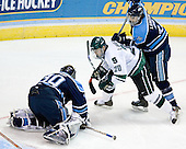 Ben Bishop (University of Maine - Des Peres, MO), Chris Lawrence (Michigan State - Havertown, PA), Mike Lundin (University of Maine - Apple Valley, MN) - The Michigan State Spartans defeated the University of Maine Black Bears 4-2 in their 2007 Frozen Four semi-final on Thursday, April 5, 2007, at the Scottrade Center in St. Louis, Missouri.