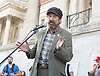 Councillor Isidoros Diakides of Haringey Council speaks at the Greece Solidarity Campaign Rally in Trafalgar Square London, Great Britain 29th June 2015 <br /> <br /> Greece Solidarity Campaign Rally<br /> <br /> <br /> Photograph by Elliott Franks <br /> Image licensed to Elliott Franks Photography Services