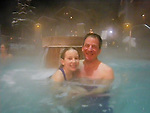 New Years Eve in  hot tub at Crested Butte