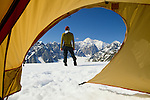 Alaska Range campsite, Denali National Park, Alaska