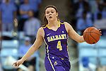 30 December 2014: Albany's Sarah Royals. The University of North Carolina Tar Heels hosted the University at Albany Great Danes at Carmichael Arena in Chapel Hill, North Carolina in a 2014-15 NCAA Division I Women's Basketball game. UNC won the game 71-56.