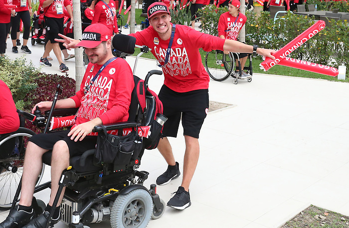 Rio de Janeiro-5/9/2016- Team Canada pep rally in the athletes village at the Paralympic Games in Rio. Photo Scott Grant/Canadian Paralympic Committee
