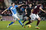 Hearts v St Johnstone&hellip;05.11.16  Tynecastle   SPFL<br />Blair Alston goes by John Souttar<br />Picture by Graeme Hart.<br />Copyright Perthshire Picture Agency<br />Tel: 01738 623350  Mobile: 07990 594431