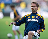 CARSON, CA - July 4, 2012: LA Galaxy midfielder Mike Magee (18) prior to the LA Galaxy vs Philadelphia Union match at the Home Depot Center in Carson, California. Final score LA Galaxy 1, Philadelphia Union 2.