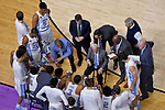 GREENVILLE, SC - MARCH 17: Head coach Roy Williams of the University of North Carolina talks to his team during a time out in the 2017 NCAA Men's Basketball Tournament held at Bon Secours Wellness Arena on March 17, 2017 in Greenville, South Carolina. (Photo by Grant Halverson/NCAA Photos via Getty Images)