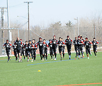 D.C. United. During the first training session after returning from Arizona, at Long Bridge Park in Arlington Virginia, Monday February 20, 2012.