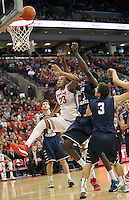 Ohio State's Amir Williams (23), North Florida's Romelo Banks (33) and North Florida's Sean Brennan (3) fight for a rebound during the second half Friday, Nov. 29, 2013, in Columbus, Ohio. (Photo by Terry Gilliam)