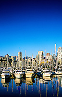 View from Granville Island to Downtown Vancouver, British Columbia, Canada