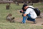 Photographer takes photo of Monkeys