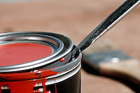 PRYING OPEN PAINT CAN<br />