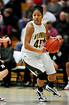 4 January 2010: University of Vermont Catamounts' guard/forward Sofia Iwobi, a Senior from Fairfield, IA, in action against the University of Nebraska Cornhuskers at Patrick Gymnasium in Burlington, Vermont. The Huskers, finishing off their first perfect non-conference season in school history, improved to 13-0 with the 94-50 win over the Lady Cats. Mandatory Credit: Ed Wolfstein Photo