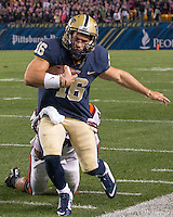 Pitt quarterback Chad Voytik (16). The Pitt Panthers defeated the Virginia Tech Hokies 21-16 at Heinz Field, Pittsburgh Pennsylvania on October 16, 2014