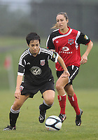 BOYDS, MARYLAND - July 21, 2012:  Diane Weigel (15) of DC United Women playing against the Virginia Beach Piranhas during a W League Eastern Conference Championship semi final match at Maryland Soccerplex, in Boyds, Maryland on July 21. DC United Women won 3-0.